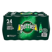 Perrier Sparkling Bottled Water Plastic 16.9 oz, 24 bottles