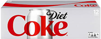 Diet Coke, 12 oz, 12 cans