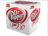 Diet Dr. Pepper - 12 oz, 36pk