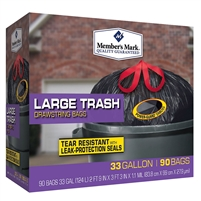 Large Trash Bags Black 33 gal