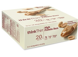 ThinkThin Protein Bars peanutbutter & brownie