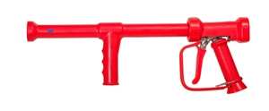<!010>SPRAY LANCE FOR HOT WATER -  STAINLESS WITH RED COVER