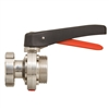 <!010>BUTTERFLY VALVE -  FEMALE x MALE  DN 25  MANUAL  304SS / SILICONE SEAL