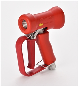 FRONT TRIGGER SPRAY NOZZLE - STAINLESS WITH RED COVER