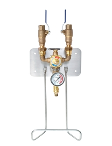 <!010>HOT & COLD WATER MIXING UNIT -  BRONZE WITH THERMOSTATIC CONTROL