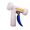 <!020>REAR TRIGGER SPRAY NOZZLE -  STAINLESS WITH WHITE COVER