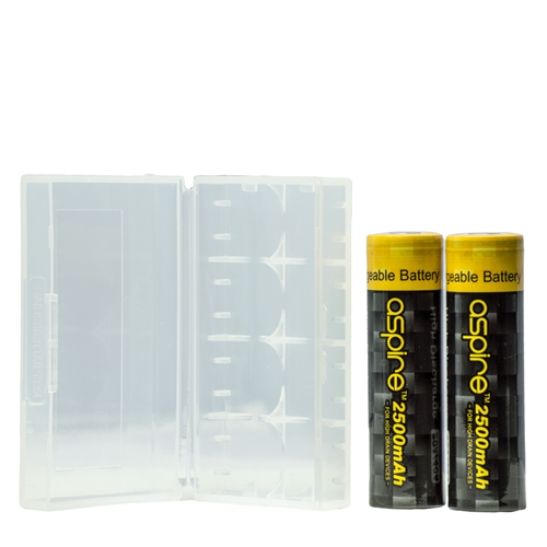 18650 Protective Vape Battery Storage Case (Holds 4 Batteries) - Vapor Lounge