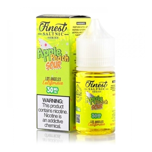 Apple Peach Sour Rings by The Finest Salt Nic 30mL -Fruity Vape Juice  | Vapor Lounge®