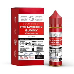 Basix Series 60mL Bottle of Strawberry Gummy Glas E-Liquid | Vapor Lounge
