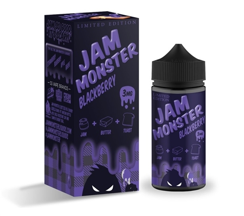 Blackberry Jam Vape Juice by Jam Monster - 100mL E-Liquid Bottle | Vapor Lounge