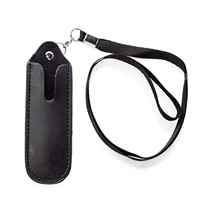 Leather Lanyard: E-Cigarette Carrying Case with Strap