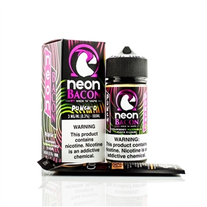 PUNCH'D by Wick 'N' Vapes Neon Bacon - Fruit Flavored High VG E-Liquid - Vapor Lounge