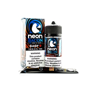 Slush'D by Wick 'N' Vapes Neon Bacon Flavored High VG Premium E-Liquid - Vapor Lounge