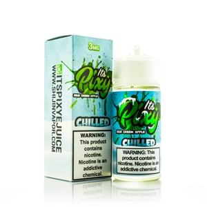 SOUR GREEN APPLE CHILLED by IT'S PIXY - Fruit Flavor Premium E-Liquid - Vapor Lounge