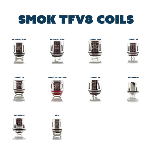 SMOK TFV8 Baby Replacement Coils - Sub-Ohm Replacement Coils | Vapor Lounge®