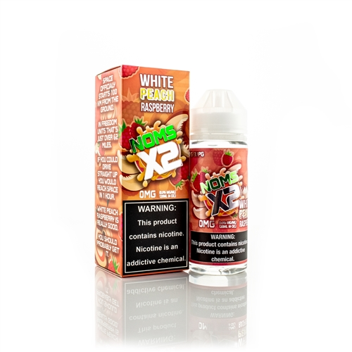 White Peach Raspberry 120mL by Noms X2 - Fruit Flavored High VG E-Liquid | Vapor Lounge