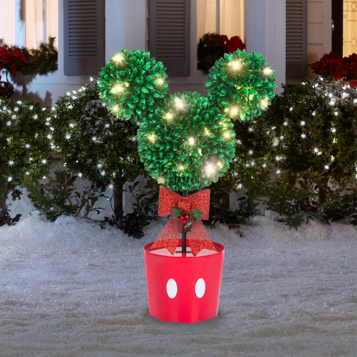 Lighted Led Decor Mickey Mouse Topiary Tree