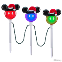 "Mickey Mouse ColorMotionâ""¢ LED Pathway Stakes"