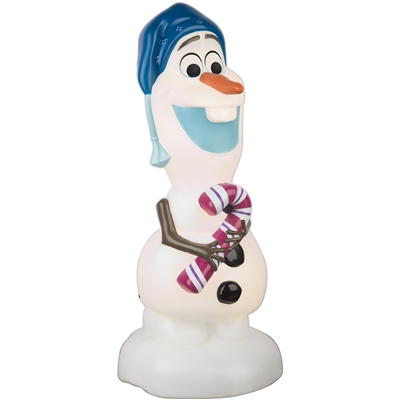 LIGHTED LED DECOR Olaf with Candy Cane Blow Mold