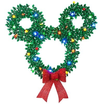 LIGHTED LED DECOR Mickey Mouse Wreath