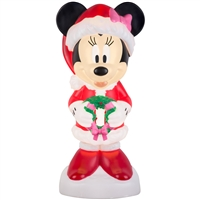 LIGHTED LED DECOR  Minnie Mouse with Present Blow Mold