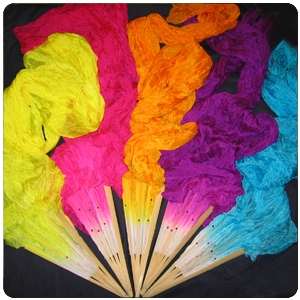 Solid Color Silk Fan Streamer
