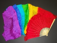 Designer Silk Fan Streamer