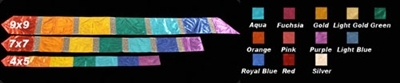 4 x 5 Twirl Streamer CLOTH ONLY. (Designer Colors)