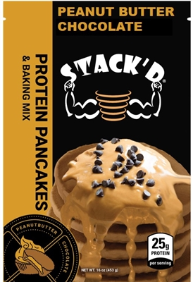 STACK'D Protein Pancakes - Peanut Butter Chocolate (1 lb)