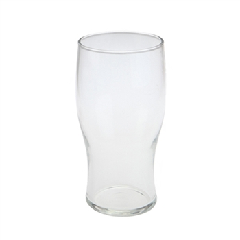 "British 1/2 pint ""Tulip"" glass w/ CE stamp"