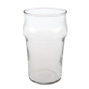 "British 12oz. ""Nonic"" plain glass"