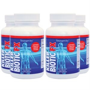 Youngevity Killer Biotic Fx - 60 capsules (4 Pack)