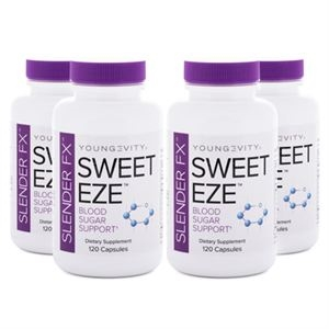 Youngevity Slender FX Sweet EZE  4 Pack blood sugar support