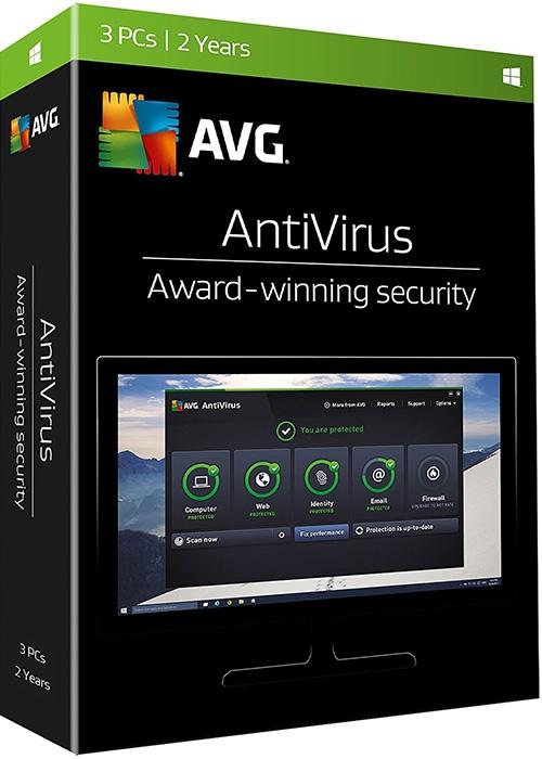 AVG Antivirus 3-PC, 2 Years