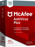 McAfee Antivirus for 10-Devices