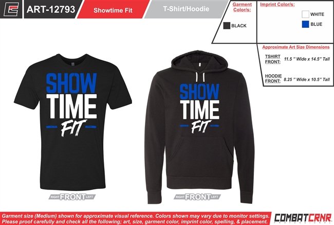 Showtime Fit Custom T-Shirt & Hoodie