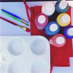 Washable kids paint kit