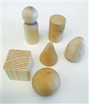 Wood geometric shapes clay modeling