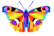 Warm to Cool Butterfly Art Lesson