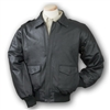 Burk's Bay Men's Leather Napa Bomber Full-Zip Jacket