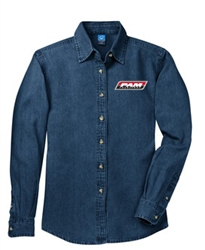 Port & Company® - Ladies Long Sleeve Denim Shirt
