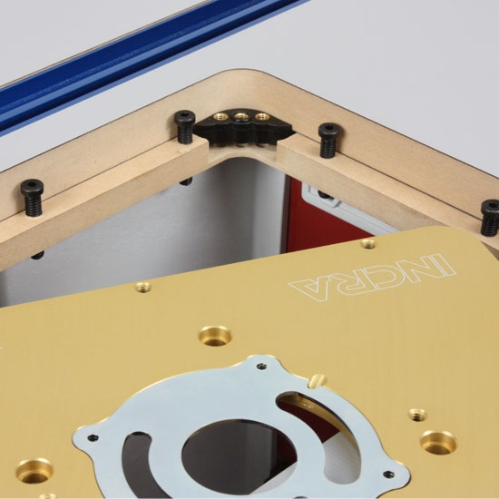 Kreg router table plate modern coffee tables and accent tables custom router table insert plate drilling program overview kreg incra cleansweep router table adapter greentooth Images