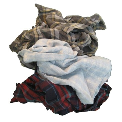 25 LB Box of Colored Flannel Rags