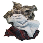 Recycled Colored Flannel Rags