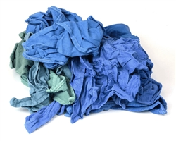 Recycled Blue Huck Towels Bulk