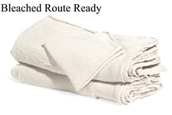 Natural Bleached Route-Ready Shop Towels in Bulk