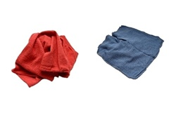 Red or Blue Shop Towels