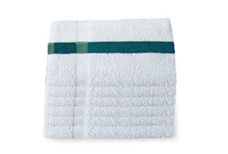 Green Center Stripe Bath Towels