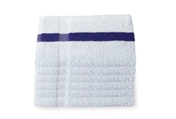 Blue Center Stripe Bath Towels