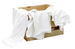100% Cotton New White T-Shirt Rags